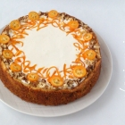 Cheesecake pe blat cu morcovi - Carrot cake cheesecake